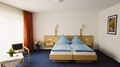 cosy double room at the Hotel Zur Post Bonn