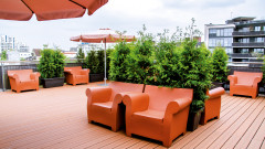 Fantastic terrace at the Hotel Begardenhof in Cologne