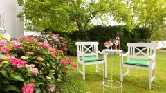 The wonderful garden at the Nuremberg Park Hotel invites you to relax