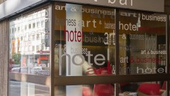 The art bar in the art & business hotel architecture Nuremberg