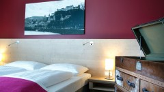 Double room at the Design Hotel Villa Carlton in Salzburg