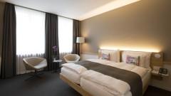 Comfortable double rooms in the Hotel Zuercherhof in Zurich