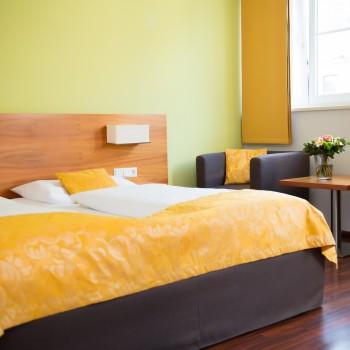Komfortables Doppelzimmer im Hotel Jedermann in Salzburg