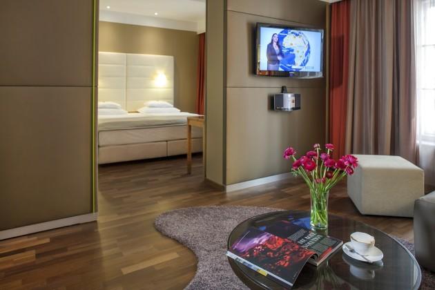 Gemütliches Zimmer im Hotel Das TIGRA in Wien