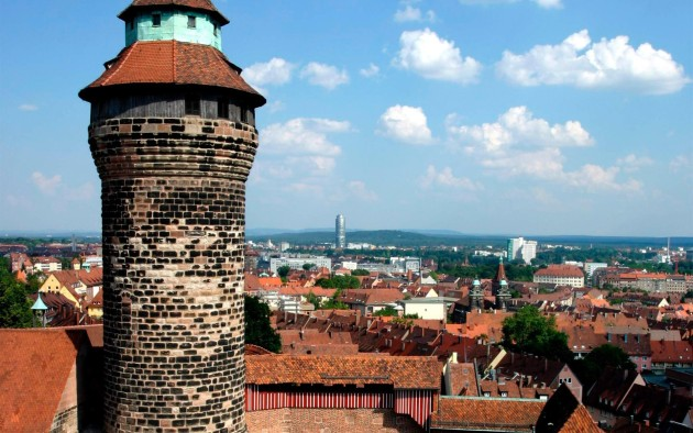 Traumhafter Blick über die historische Altstadt von Nürnberg.
