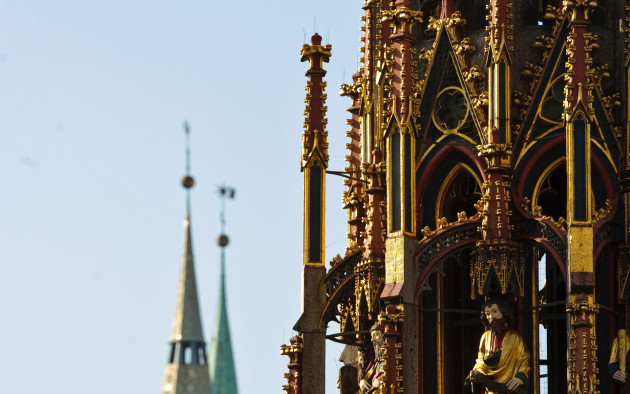 Historische Bauwerke und Kirchen prägen das Bild der Innenstadt von Nürnberg.