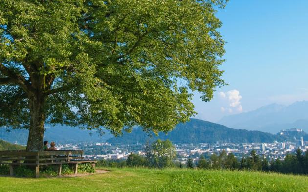 Traumhafter über die Stadt Salzburg von Maria Plain aus