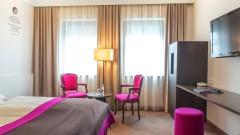 Zimmer zwischen Salzach und Bahnhof im Hotel Salzburger Hof in Salzburg