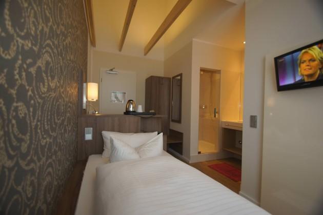 Geräumige Einzelzimmer im Hotel Deutsches Haus in Bonn