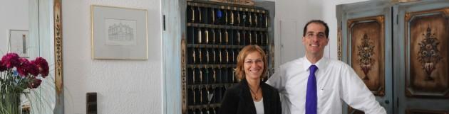 Maren und John Füllenbach Gastgeber im Hotel Restaurant zur Post in Bonn