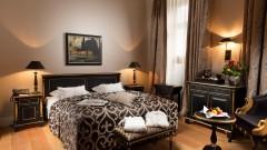 Das Schwarze Zimmer im Hotel Baseler Hof in Hamburg