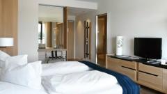 Komfortables Doppelzimmer im Hotel Zollenspieker Färhaus in Hamburg