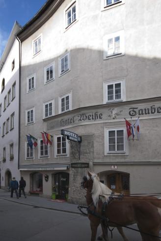 Mitten im Zentrum von Salzburg das Altstadthotel Weisse Taube