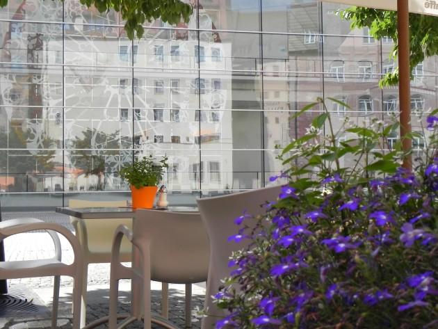 Schöner Gastgarten beim Hotel Victoria in Nürnberg