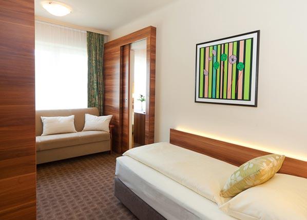 Großes Einzelzimmer im Hotel Astoria in Salzburg