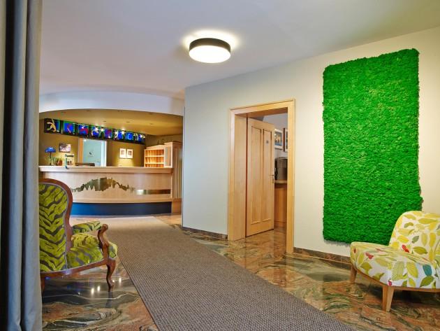 Die schöne Lobby im Grünen Hotel zur Post in Salzburg