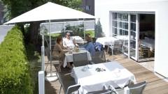 Terrasse beim Grünen Hotel zur Post in Salzburg