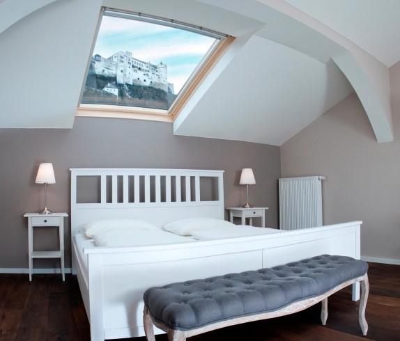 Zimmer mit herrlichem Ausblich im Hotel Kasererbraeu in Salzburg