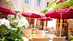 Gemütlicher Schanigarten beim Austria Classic Hotel in Wien
