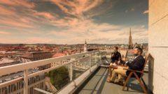Herrliche Aussicht über Wien vom Hotel Am Parkring