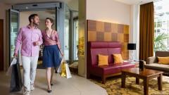 Stilvoller Empfangsbereich im Hotel Am Parkring in Wien