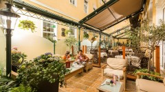 Wintergarten im Hotel Stefanie in Wien
