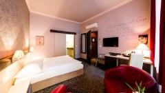 Komfortable Zimmer im Kunst Hotel Der Wilhelmshof in Wien