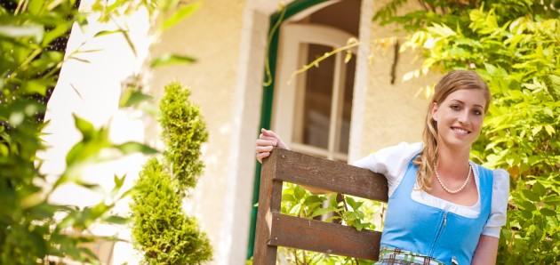 Ihre Gastgeberin im Hotel Rosenvilla in Salzburg Stefanie Fleischhaker