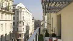 Herrliche Aussicht vom Balkon im Hotel Das TIGRA in Wien
